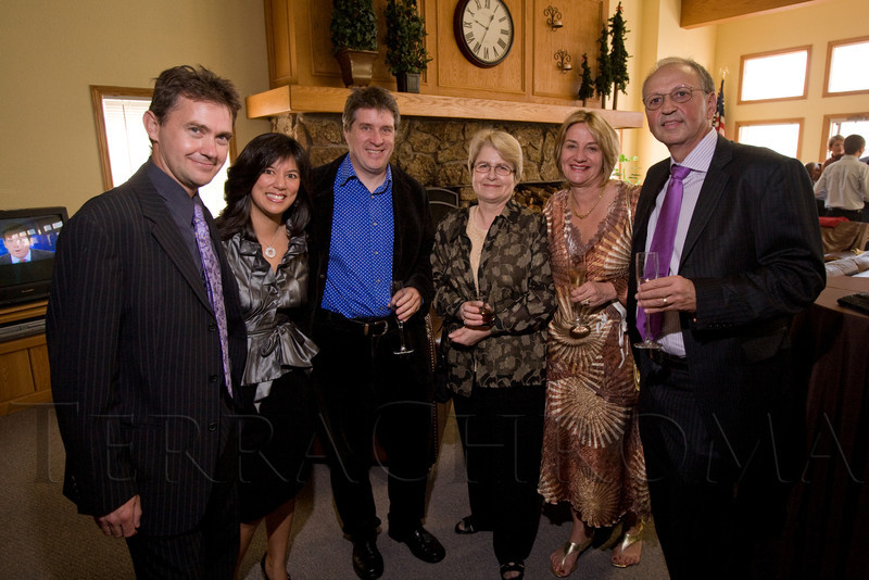 "(Broomfield, Colorado, Sept. 27, 2008)<br /> Tom and Michelle Whitten, Glenn Binley, Sue Buckley, and Joanne and Harvey Sender.  ""Be Beautiful Be Yourself Jet Set Fashion Show,"" benefiting The Rocky Mountain Down Syndrome Educational Fund and Arc Thrift of Colorado, at Rotors of the Rockies in Broomfield, Colorado, on Saturday, Sept. 27, 2008.<br /> STEVE PETERSON"