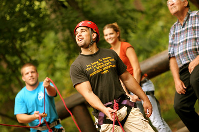 The Broyhill Free Climb event allows members of the university and surrounding community to have fun and enjoy the Broyhill Adventure Course's facilities; September 28, 2008.