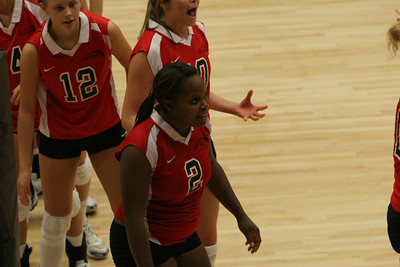 Volleyball vs Winthrow; September 27, 2008.