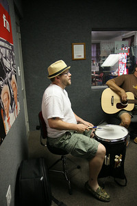 The Youngers perform at Gardner-Webb's radio station WGWG 88.3.