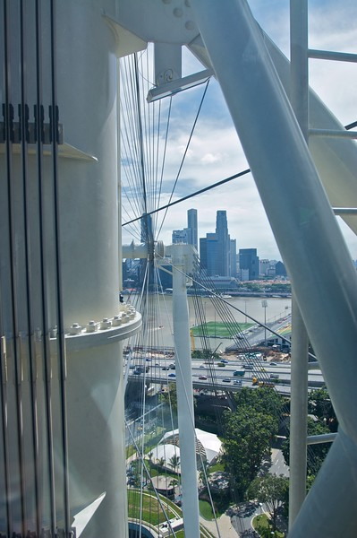 """On-board the <a href=""""http://en.wikipedia.org/wiki/Singapore_Flyer"""" title=""""Singapore Flyer - Wikipedia, the free encyclopedia"""">Singapore Flyer</a>, currently the world's largest ferris wheel which opened on 1st March 2008, six months before I went on it. On 23rd December the wheel <a href=""""http://www.channelnewsasia.com/stories/singaporelocalnews/view/398149/1/.html"""" title=""""Channelnewsasia.com"""">suffered electrical problems forcing it to be shut down</a>. As I write this it is <a href=""""http://www.channelnewsasia.com/stories/singaporelocalnews/view/399703/1/.html"""" title=""""Channelnewsasia.com"""">still closed to the public while it is being tested</a> ."""