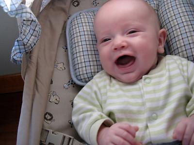 Charlie smiling...
