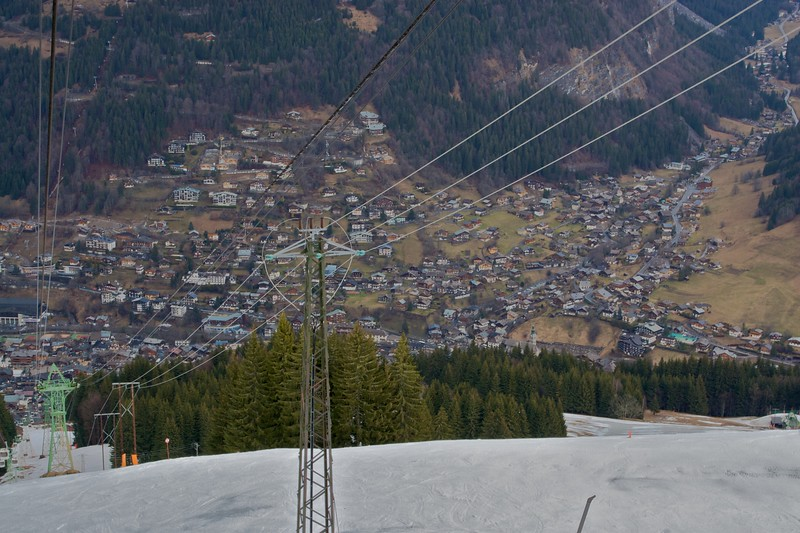 Morzine • The town of Morzine as seen from Mt Pleney.