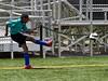 Yohannes at a corner kick