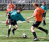 Simon contending for the ball