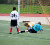 Opposing keeper gets Simon's ball
