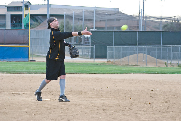 Rob pitching in the first inning of our game.