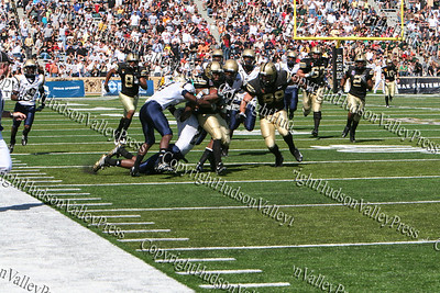 Army Running Back Wesley McMahand picked up 45 yards on his lone carry in Saturday's game against Akron in Mitchie Stadium.
