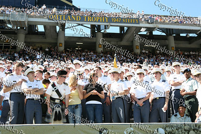 West Point cadets in the stands of Mitchie Stadium as Army takes on Akron in their Saturday, September 20, 2008 match up.
