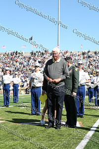 Former Army Men's Basketball Head Coach Bobby Knight is acknowledged during half time for being inducted into Army Sports Hall of Fame Class of 2008.