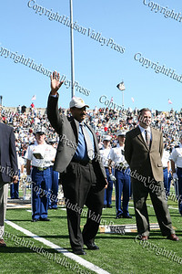 Former Army Lacrosse and Soccer player Jose Olivero is acknowledged during half time for being inducted into Army Sports Hall of Fame Class of 2008.