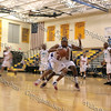 Avenger player drives to the basket during their NPBL match up against the Hudson Valley Hawks.