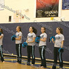 Beacon High School Cheerleaders get the crowd going during the Hudson Valley Hawks vs Avengers match up.