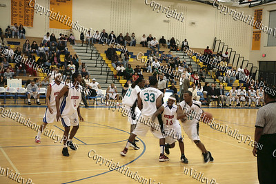 The Hudson Valley Hawks Willie Coleman drives past the defense of the Avengers during their NPBL match up.