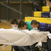 Young Hudson Valley Hawks fans engage in an old fashion pie eating contest during half time of the Hudson Valley Hawks vs Avengers NPBL basketball game.