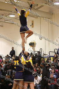 Newburgh Free Academy Boys Varsity Basketball team took on Washingtonville on Tuesday, December 9, 2008 at NFA. NFA Cheerleaders perform during a time-out.
