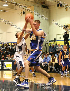 Newburgh Free Academy Boys Varsity Basketball team took on Washingtonville on Tuesday, December 9, 2008 at NFA. #3 Marcus Hendersen, #25 Danny Sternkopf