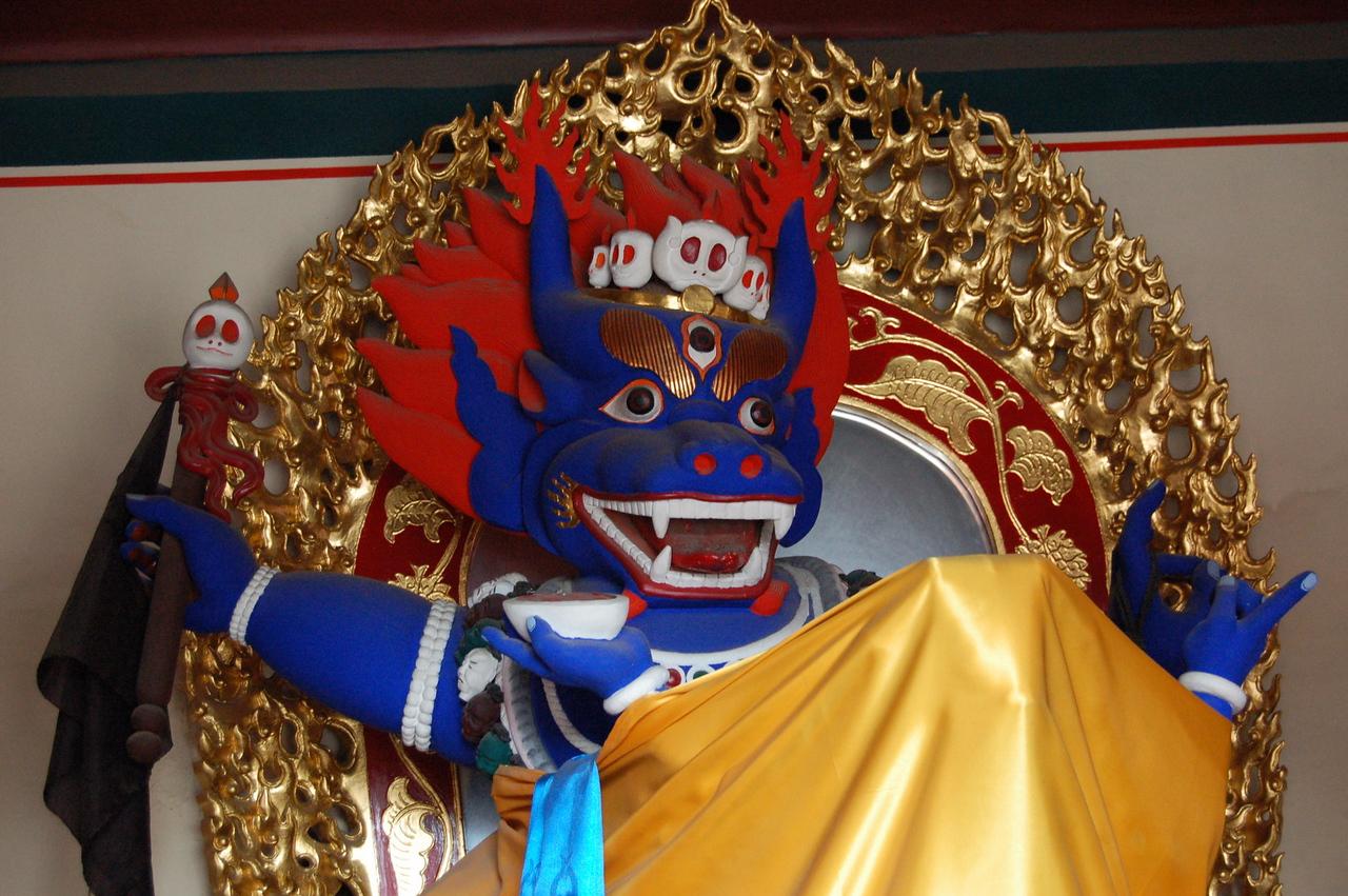 Buddhist god with erection?