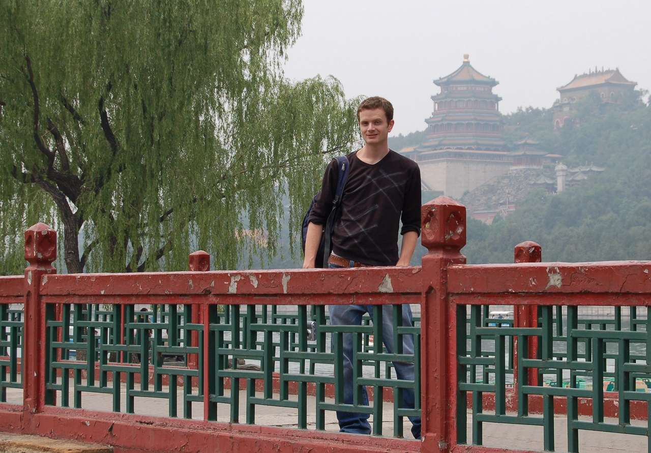 Stewart at the Summer Palace