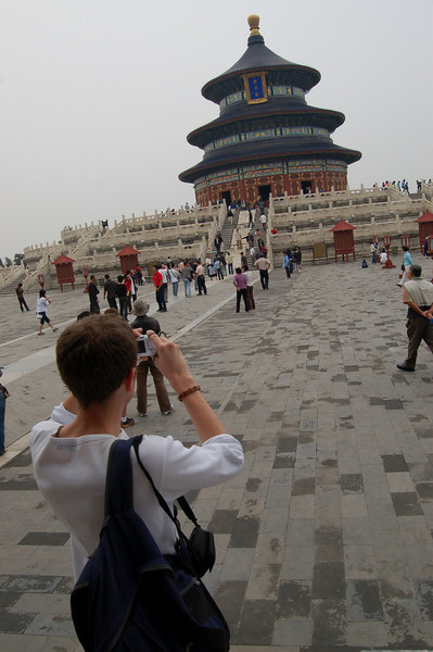Stew photographing the Temple of Heaven