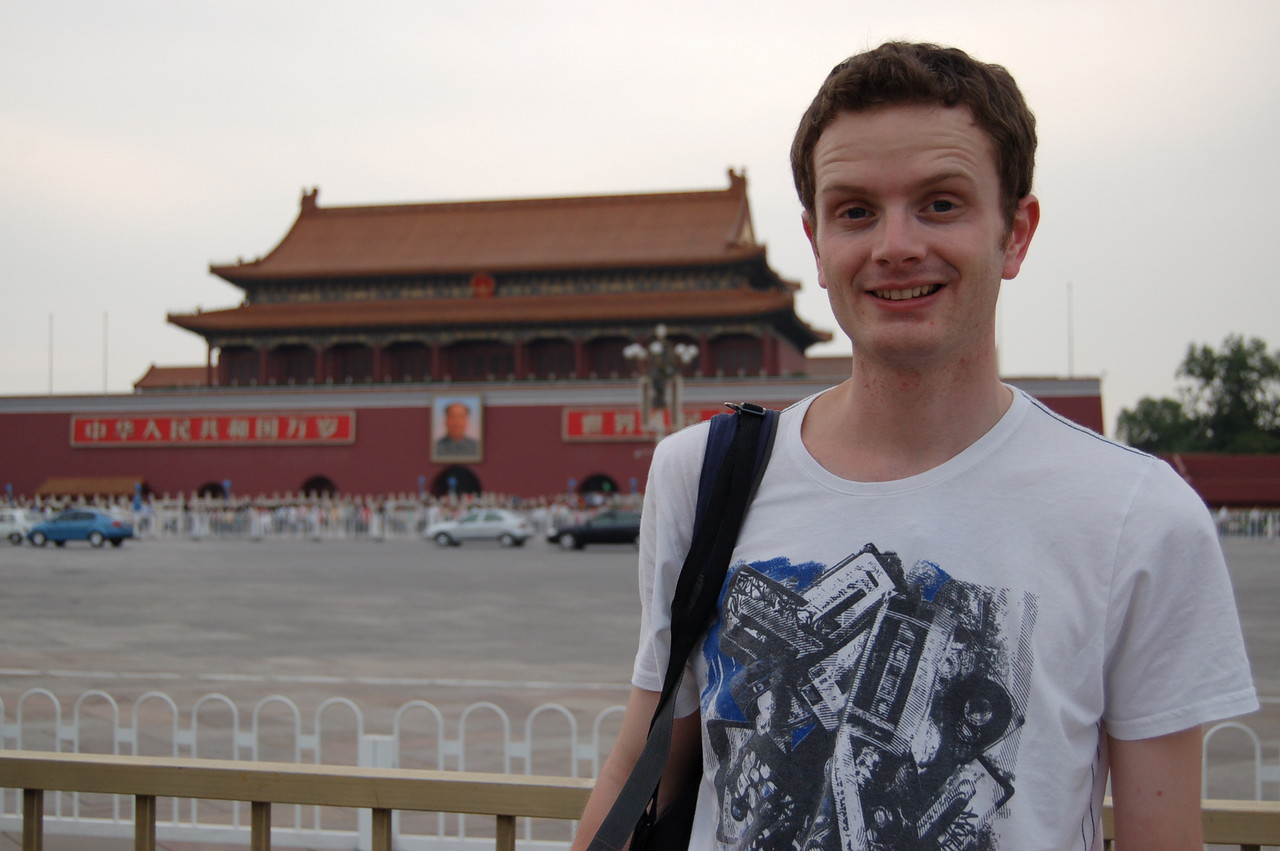 Stewart in Tiananmen Square