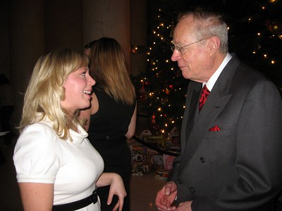 Katharine chats with Associate Justice Anthony Kennedy about their mutual interest in Austria