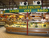 Butter, cheese, and bread stand in the Saluhalle indoor market