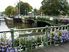 Canal bridges and flowers