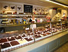 Chocolate stand in the Saluhalle indoor market