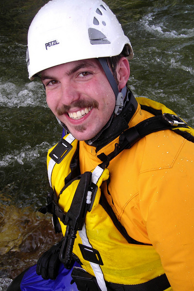 Big grins from Richard Harrop, enjoying himself for the day on the water.