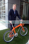 Matthew Modine arriving by Bicycle to the event