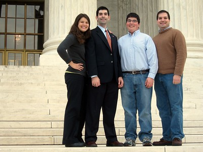 The Fifer kids, on the steps of the Supreme Court