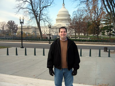 Craig, in front of the U.S. Capitol, from the steps of the Supreme Court