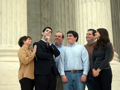 The Fifers, on the steps of the Supreme Court