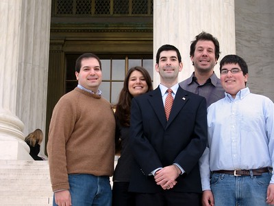 The Fifer kids with Avram, on the steps of the Supreme Court