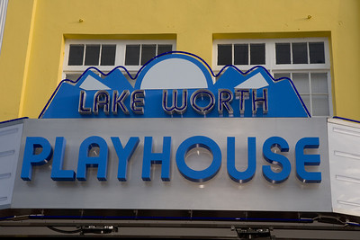 The $100,000 Gala at the Lake Worth Playhouse and the Official Lighting of the Lake Worth Playhouse Marquee