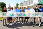 Bruce Harper Alan Kalter, Tony Darow, John Starks, Greg Anthony, Geoffrey Huston, Maurice Dubois, Lance Smith, Herb Williams,and Rodney Hampton attend the 13th Annual John Starks Celebrity Classic at the Old Oaks Country Club on September 8, 2008 in Purchase, New York.