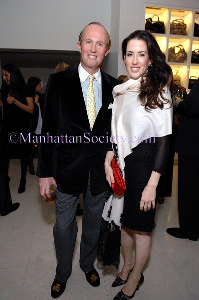 NEW YORK-OCTOBER 23: Mark Gilbertson & Lil Philips attend The Associates Committee of Fountain House Fall Fete at Valentino Boutique, 747 Madison Avenue at 65th Street, New York City on Thursday, October 23, 2008 (Photo Credit: Christopher London/ManhattanSociety.com)
