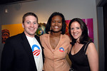 Phil Walotsky, Dawn Smalls (NY Political Director of Obama for America Campaign), Jennifer Rosenbaum NEW YORK-AUGUST 27: OBAMA For President supporters attend MIXING FOR CHANGE In Support of Senator Barack Obama & Obama Victory Fund presented by The DNC Trailblazers & GO NYC at MANSION, 530 West 28th Street, New York City on Thursday, August 27, 2008 (Photo Credit: Christopher London/ManhattanSociety.com)