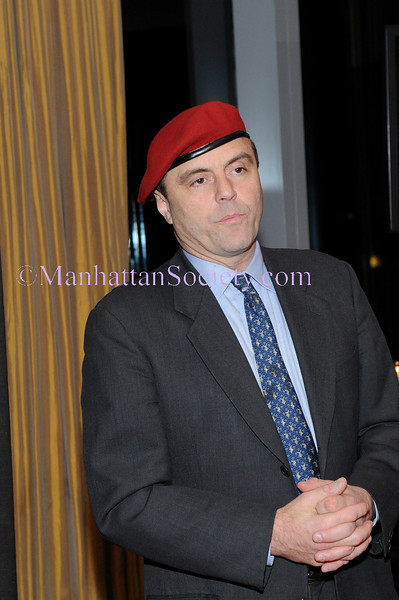 NEW YORK-OCTOBER 21: Curtis Sliwa addresses guests at The GUARDIAN ANGELS Fall Cocktail Reception, at the The Mandarin Oriental, 80 Columbus Circle at 60th Street, 36th Floor- Lotus Suite, New York, NY on Tuesday, October 21, 2008 (Photo Credit: Gregory Partanio/ManhattanSociety.com)