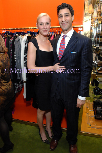 NEW YORK-OCTOBER 29:  Alison Harmelin, Samer Hamedeh attend  An Evening of Cocktails and Shopping with Children for Children's Board, Council & Junior Committee at the Tory Burch Boutique, 257 Elizabeth Street, New York City, NY on Wednesday, October 29, 2008 (Photo Credit: Christopher London/ManhattanSociety.com)