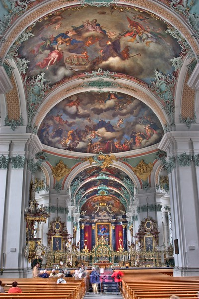 Inside St Gall cathedral