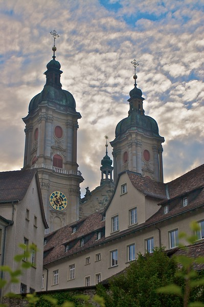 St Gall cathedral • The two towers of this abbey church are visible from much of the small city of St Gall.