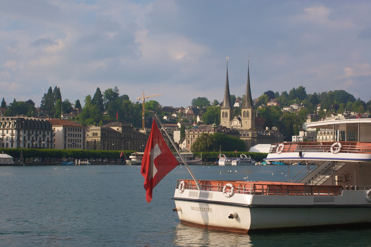 Lake Lucerne • Looking towards the Hofkirche