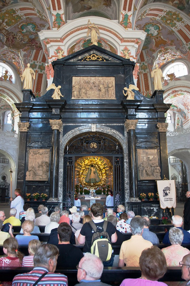 The black Madonna • The Lady chapel, with its Black Madonna, is a much revered point for pilgrims to Einsiedeln Abbey.