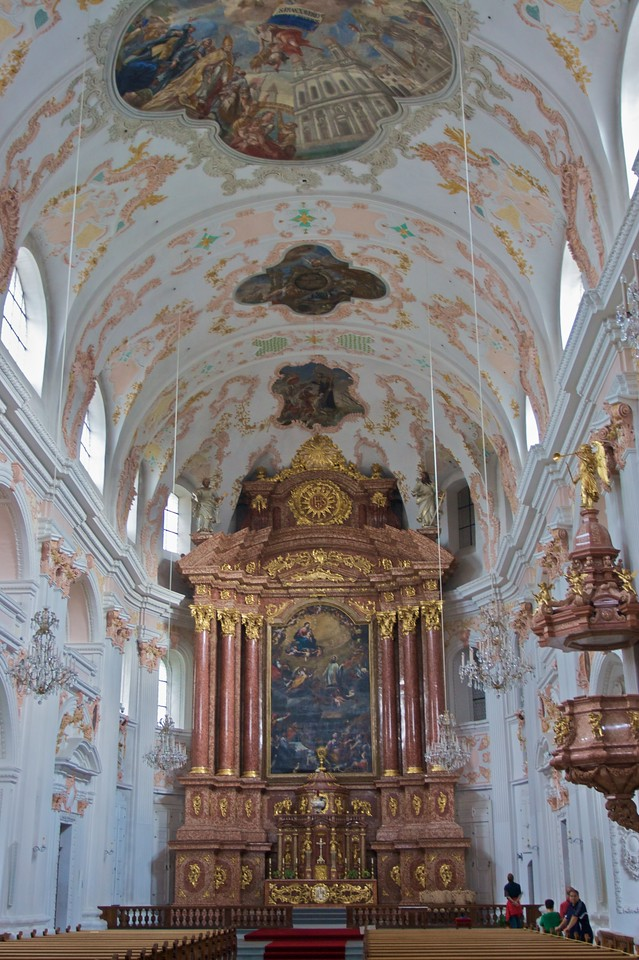 Inside the Jesuitenkirche
