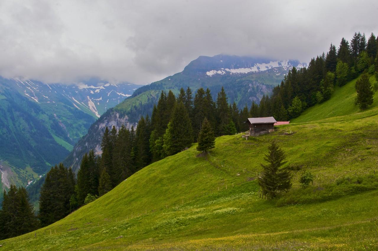 Switzerland • Mürren in the Bernese Oberland.