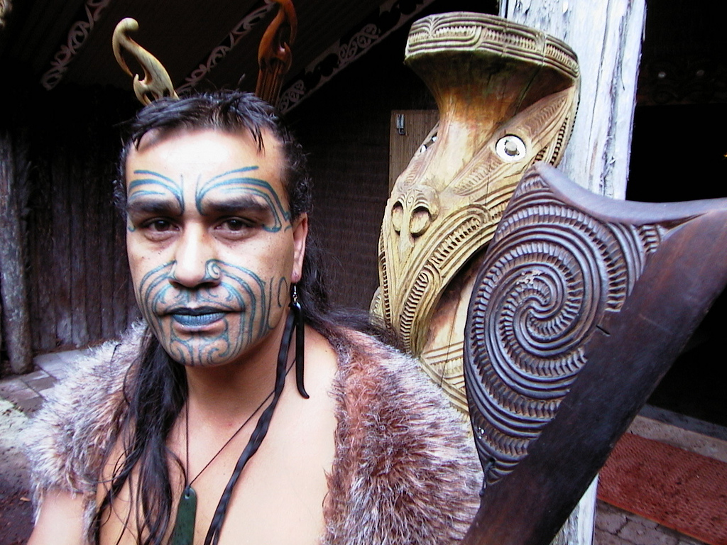Maori warrior, Rotorua