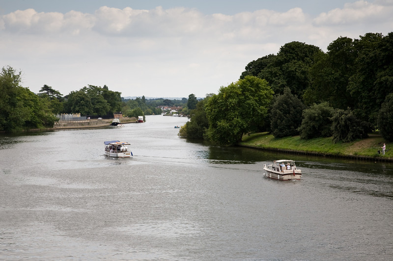 A view of the Thames at Hampton Court