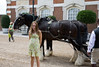 Isabel with horses, Hampton Court